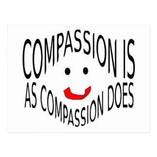 Het medeleven is zoals het Medeleven Briefkaart