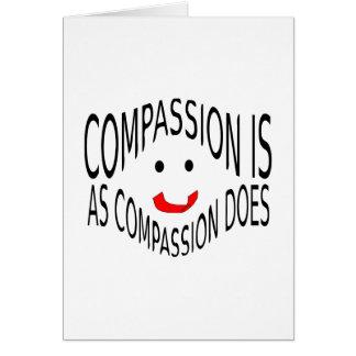 Het medeleven is zoals het Medeleven Wenskaart