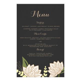 Het Menu van het Diner van het Huwelijk van de