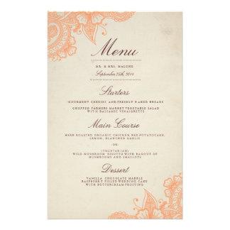 Het Menu van het Diner van het Huwelijk van mod. Flyer 14 X 21,6 Cm