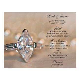 Het Menu van het Huwelijk van de Ring van de Diama Fullcolor Folder