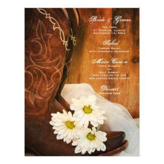 Het Menu van het Huwelijk van het Land van margrie Fullcolor Folder