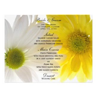 Het Menu van het Huwelijk van twee Madeliefjes Folder