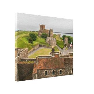 Het middeleeuwse Kasteel Kent Engeland van Dover Canvas Afdrukken