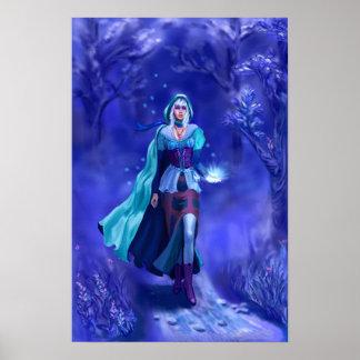 Het middeleeuwse Poster van het Meisje