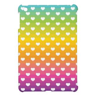 Het MiniHoesje van de Harten van de regenboog iPad iPad Mini Case