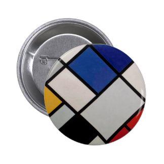 Het Moderne Art. van Piet Mondrian Button