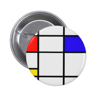 Het Moderne Art. van Piet Mondrian Speldbuttons