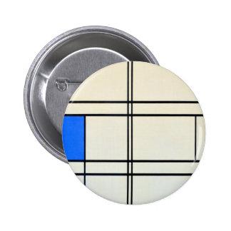 Het Moderne Art. van Piet Mondrian Speld Button