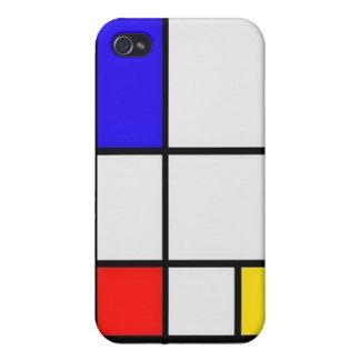 Het Moderne Art. van Piet Mondrian iPhone 4 Cover