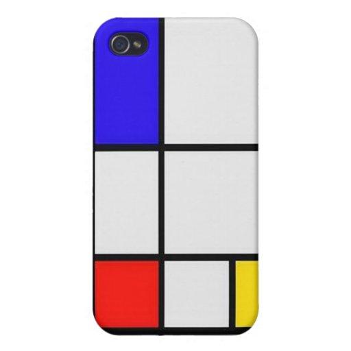 Het Moderne Art. van Piet Mondrian iPhone 4/4S Hoesje