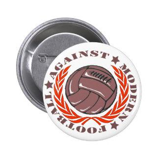 Het Moderne Football van Agaisnt Ronde Button 5,7 Cm