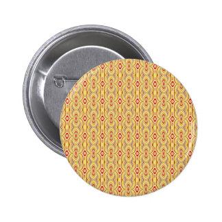 Het moderne Gele en Bruine Patroon van Kettingen Speld Button