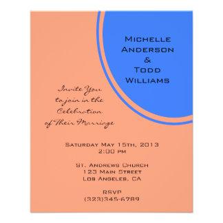 Het moderne Heldere blauwe Huwelijk van de pastelk Fullcolor Folder