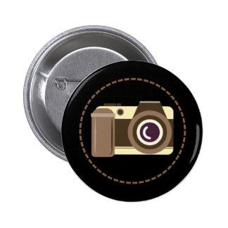 Het moderne Kenteken van de Knoop van de Camera Ronde Button 5,7 Cm