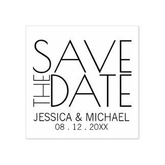 Het moderne Modieuze Huwelijk bewaart de Datum Rubberstempel