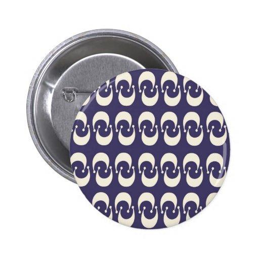 Het moderne Paarse Witte Dubbele Toenemende Patroo Buttons