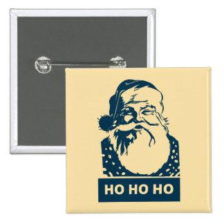 Het moderne pop-art van Ho Ho de Kerstman van Ho Vierkante Button 5,1 Cm