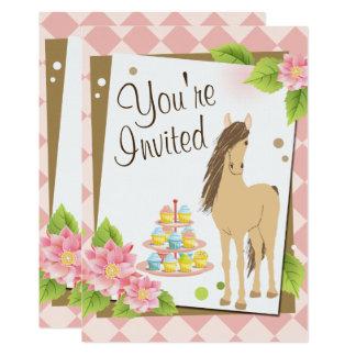 Het mooie Bruine Paard, de Roze Verjaardag van Kaart