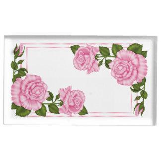 Het mooie Roze Huwelijk van de Boeketten van de Tafelkaart Houder