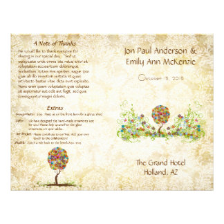 Het muzikale Programma van het Huwelijk van de Flyer 21,6 X 27,9 Cm