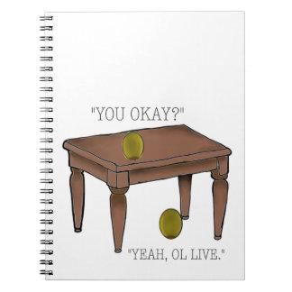 Het Notitieboekje van de Grap van de olijf Ringband Notitieboek