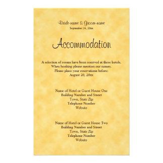 Het Ontwerp van het huwelijk in Geel en Zwart Flyer 14 X 21,6 Cm