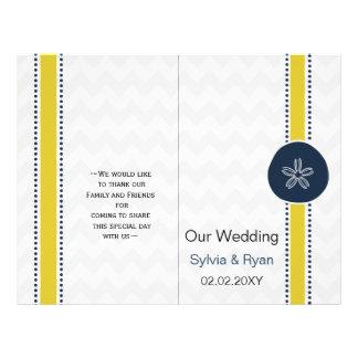 Het Ontwerp van het Huwelijk van het Strand van de Flyer