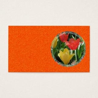 Het oranje en Gele Visitekaartje van Tulpen Visitekaartjes