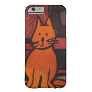 Het oranje Schilderen van de Kat Barely There iPhone 6 Hoesje