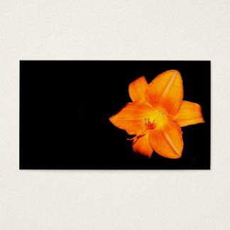 Het oranje visitekaartje van de daglelie visitekaartjes