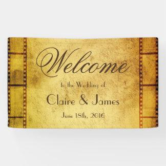 Het oude Welkome Huwelijk van de Film van de Film Spandoek