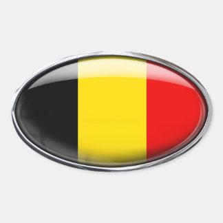 Het Ovaal van het Glas van de Vlag van België Ovale Sticker