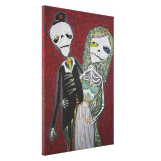 Het Paar van het huwelijk/Dia DE Los Canvas Afdruk