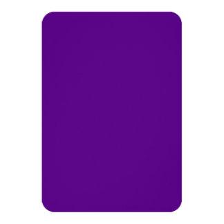 Het paarse Decor van de Kleur van het Accent 8,9x12,7 Uitnodiging Kaart