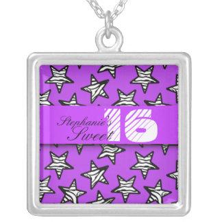 Het paarse gestreepte Ketting van sterren Zoete 16