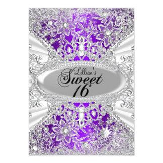 Het paarse Sprookjesland Sweet16 van de Winter van Kaart