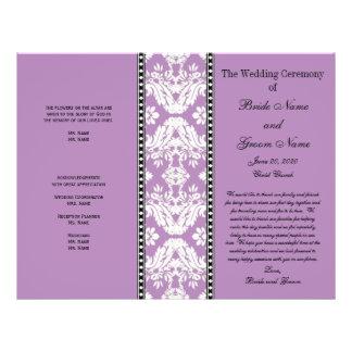 Het paarse Witte Programma van het Huwelijk van Flyer