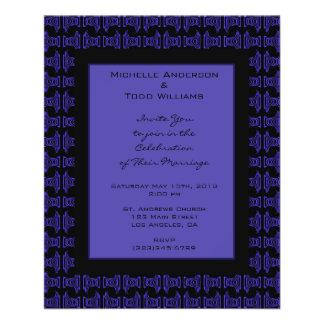 Het paarse Zwarte Huwelijk van het Patroon Folder