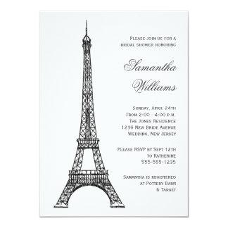 Het Parijse Vrijgezellenfeest van de Toren van 11,4x15,9 Uitnodiging Kaart