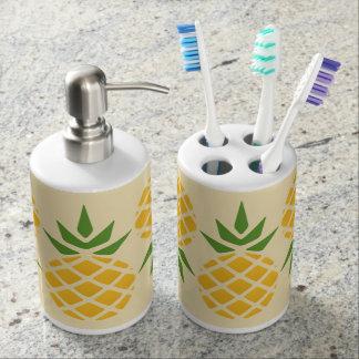 Het Patroon van de ananas Badkamer Set