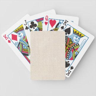Het Patroon van de Vanille van Houndstooth Bicycle Speelkaarten