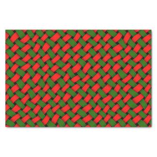Het Patroon van Kerstmis van Basketweave Tissuepapier