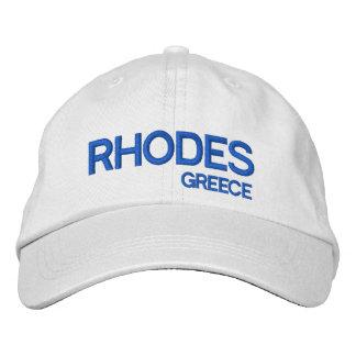 Het Pet van het Honkbal van de Douane van Rhodos, Geborduurde Pet
