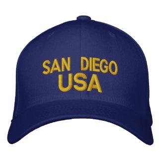 Het Pet van San Diego de V.S. Geborduurde Pet