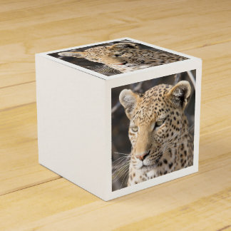 Het portret van de luipaard bedankdoosjes