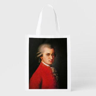 Het portret van Wolfgang Amadeus Mozart Herbruikbare Boodschappentas