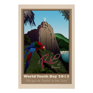 Het Poster van de Reis van Brazilië