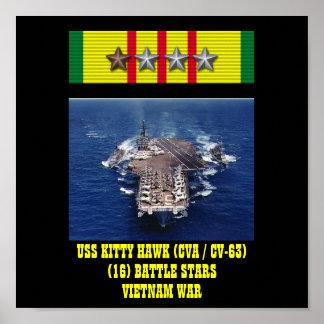 HET POSTER VAN HET KAT VAN USS VAN DE HAVIK (CVA/C