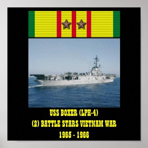 HET POSTER VAN USS VAN DE BOKSER (LPH-4)